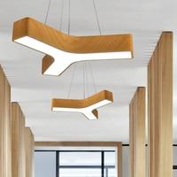 Современная светодиодная лампа подвесной светильник в офис дерево Y Форма Подвеска лампы для гостиной ресторана кулон домашнего освещения