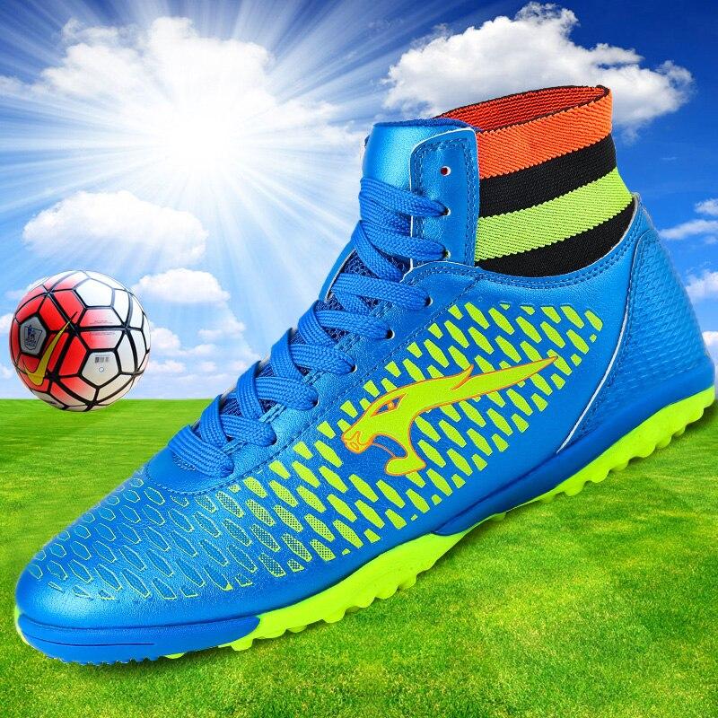 Botines de fútbol Tobillo alto Superfly 2019 Nuevos niños Zapatos de deporte de entrenamiento al aire libre Zapatillas de deporte de calidad superior de China