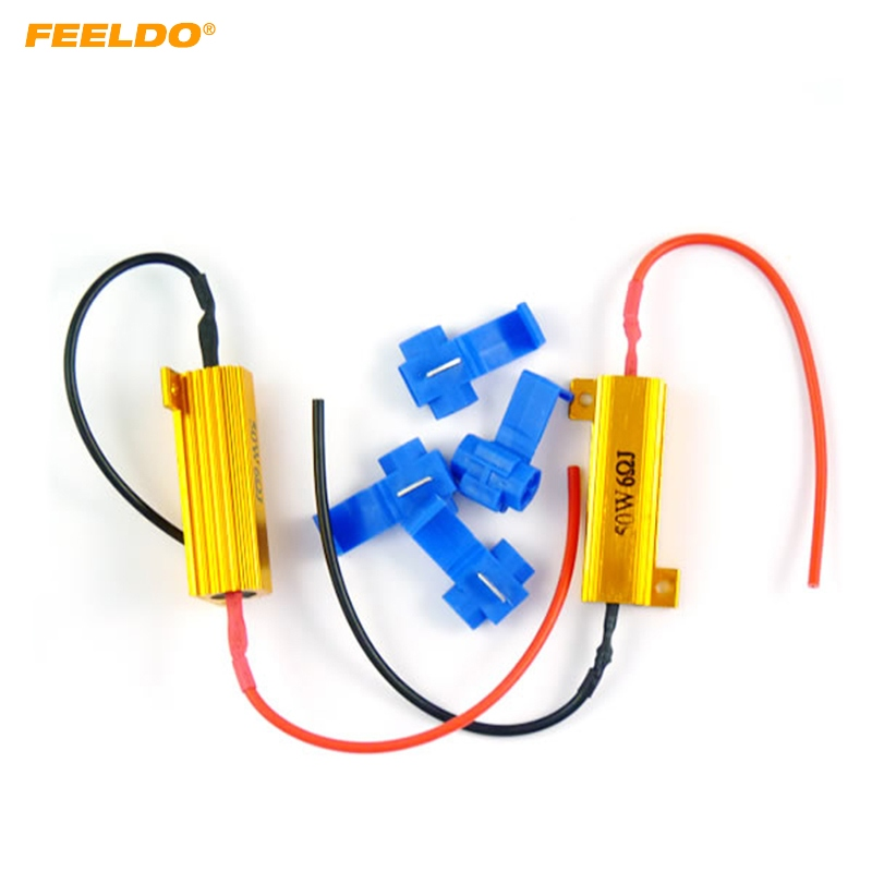 Fast Deliver Feeldo 10set 50w 6ohm Smd Led Load Resistors For Turn Signal Light Fix Bulb Out/error/blink #ca3430 Diversified In Packaging Car Lights Base