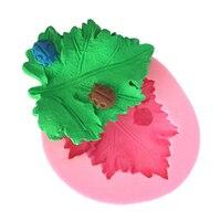 Silicone Maple Leaf Muffa Per La Decorazione Della Torta del Sapone Della Muffa Che Decora Fondente 3D Silicone Gum Paste Moldes De Silicona Viola