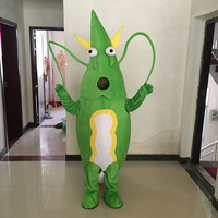 Shrimp Mascot Costume green blue Lobster Langouste Crawfish Cartoon Cosplay Dress cosplay theme mascotte carnival costume
