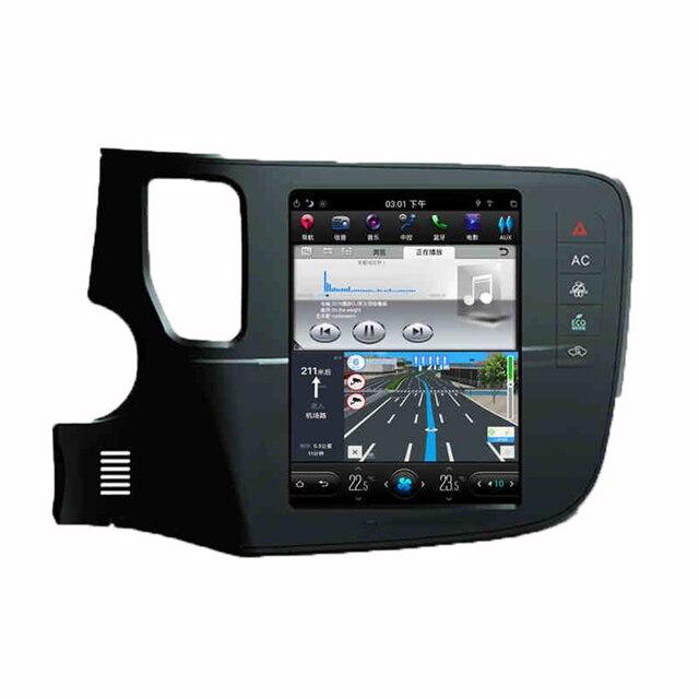 Asvegen-écran Vertical 10.4 pouces Android 7.1 Quad Core   Lecteur DVD multimédia, Radio pour MITSUBISHI OUTLANDER GPS, Navigation