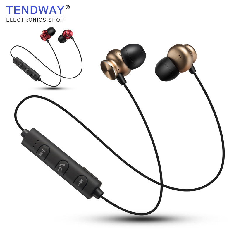 Tendway Magnetic Bluetooth Earphones Sport Running Wireless Stereo Earbuds with Micro Microphone for Climbing Running auriculare sport running bluetooth earphone for lg g3 beat earbuds headsets with microphone wireless earphones