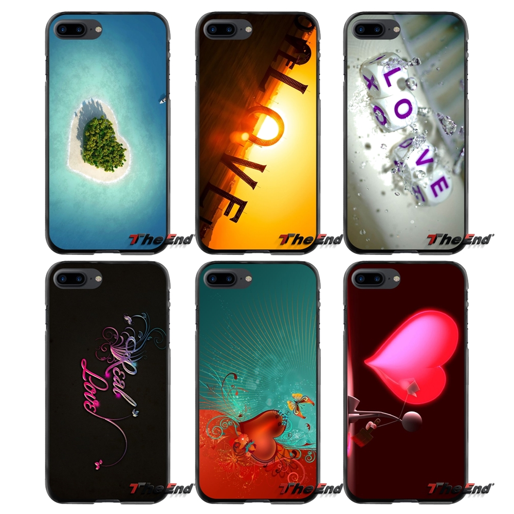 Accessories Phone Shell Covers Love HD 3 For Apple iPhone 4 4S 5 5S 5C SE 6 6S 7 8 Plus X iPod Touch 4 5 6