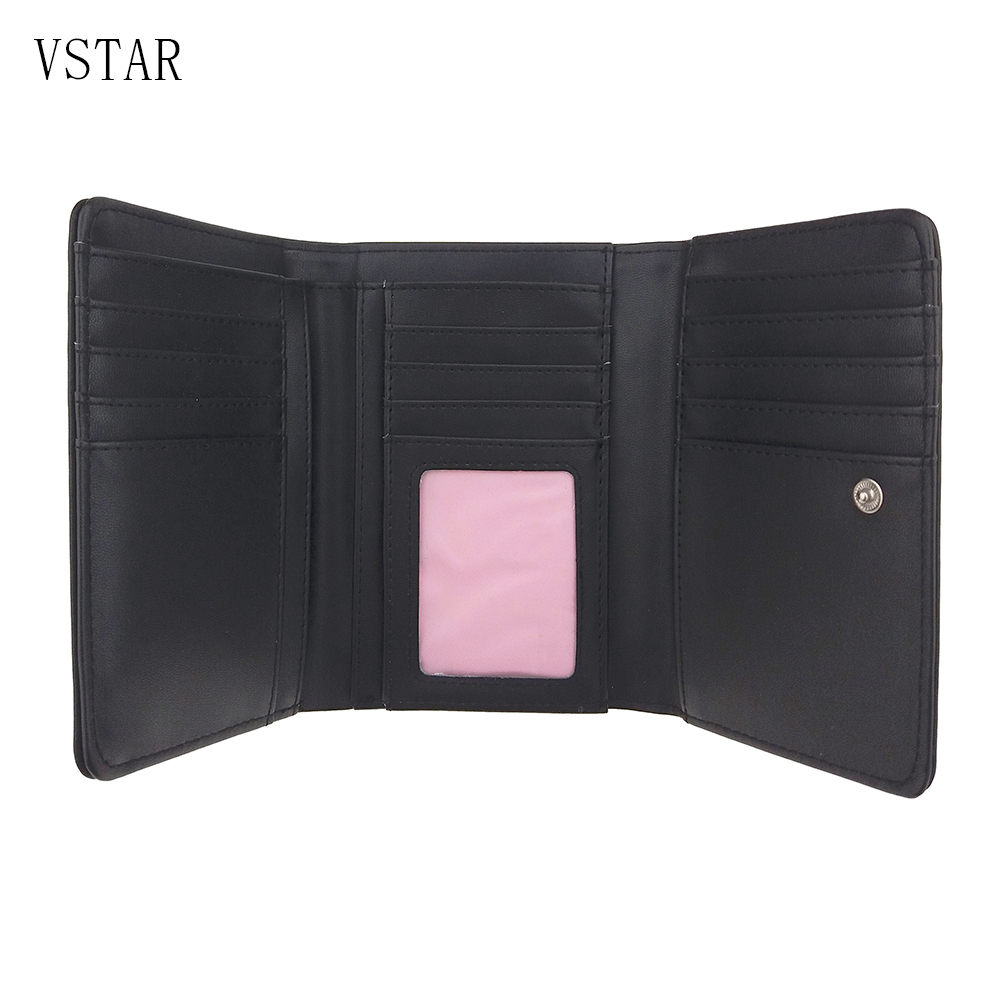 Designer 2018 Tassel Three Fold Women 39 s Wallet Card Holder Coin Purse Metal Rock Female Wallets for Lady Clutch Female Carteira in Wallets from Luggage amp Bags