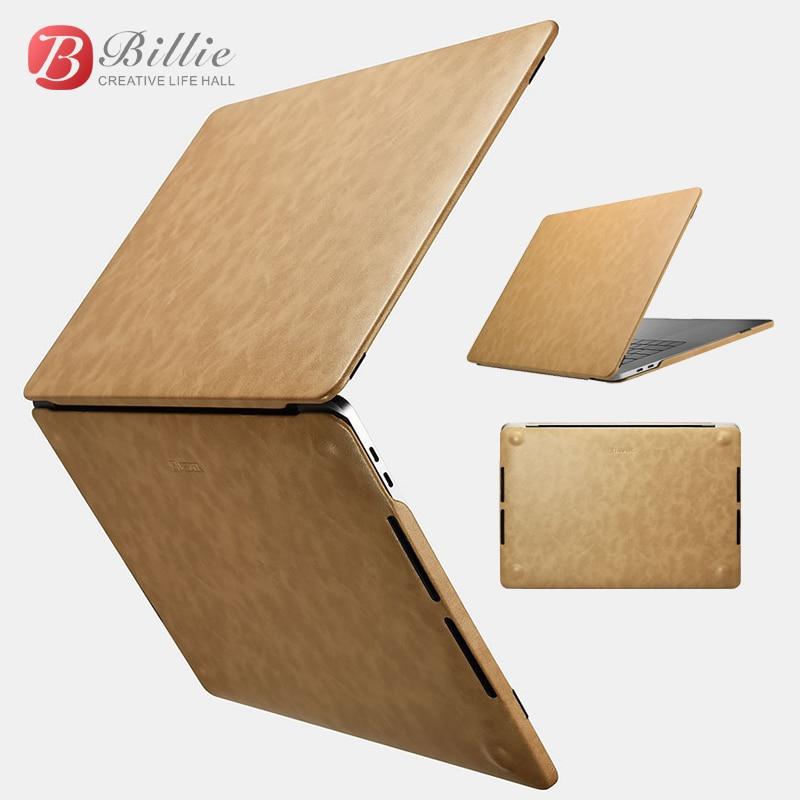 Slim Premium Pu capa de Couro Capa Laptop Case Para Macbook Pro 15 polegadas 2017 Novo Escudo Protetor Capa para Apple Macbook pro 15