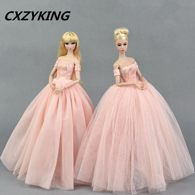 CXZYKING High quality Handmade Gifts For Girls Slim Evening Suit Wedding Dress Clothes For Barbie 1:6 Doll