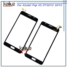 Touch Screen Digitizer For Alcatel Pop 4S OT5095 5095 5095Y 5095k Glass Sensor Panel Replacement Black new 5.5 inch for 5095