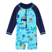 BAOHULU/Одежда для купания для маленьких мальчиков; UV50+ детская одежда для купания; купальные костюмы для мальчиков; Цельный Детский купальный костюм; пляжная одежда