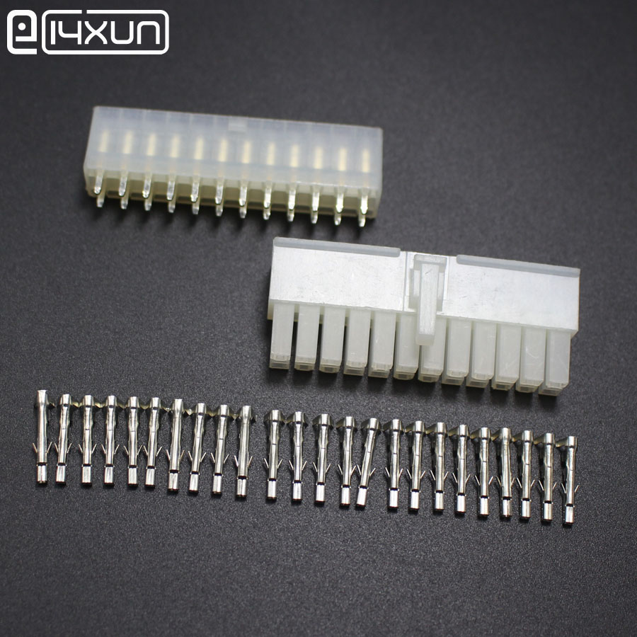 hight resolution of 1sets 4 2mm 5557 5569 24p automotive wiring harness connector 24pin male plug and female