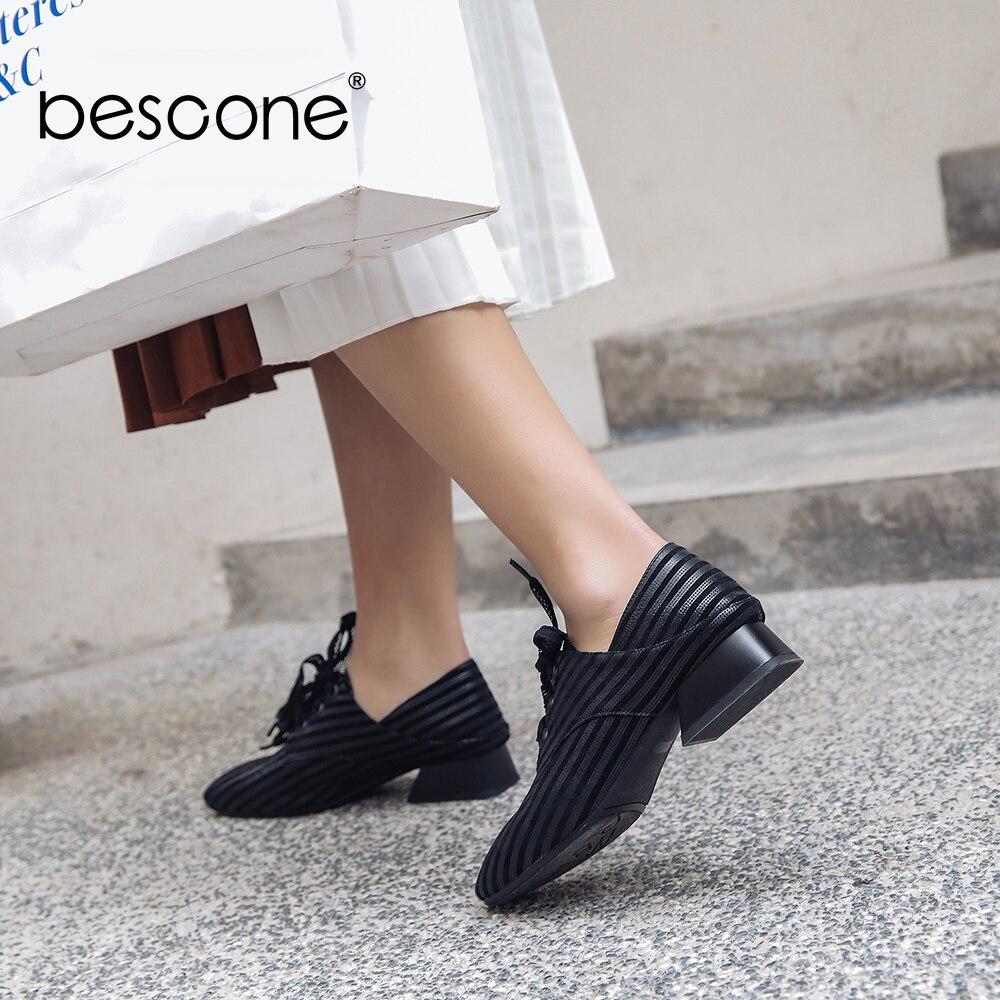 Pour Talon Bescone Femmes Taille Femme Med Lacets Rayé Black Bout Escarpins Bo5 Supérieure Grande Qualité À Noir Marque Classique Pompes Chaussures Carré qUr6WFUt