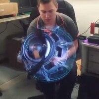 MUQGEW New Hot Youtube 3D Hologram Advertising Display LED Fan Holographic Imaging 3D Naked Eye LED