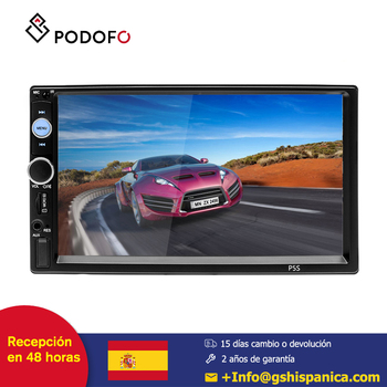 Podofo HD coche radio 2 din 7'' Bluetooth 4.0 Mirror Link Autoradio FM AUX USB SD táctil resistiva