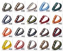 купить Wholesale 18 mm Multi Color Sky Blue Army Sports nato fabric Nylon watchband Strap Accessories Bands Buckle belt 18mm for Watch по цене 97.7 рублей