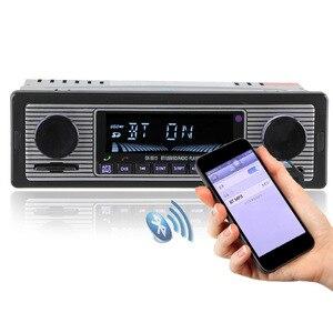 Image 3 - 1 DIN 12 V Auto Radio Player Bluetooth Stereo FM Retro Radio Player Auto U disk Plug in autoradio Fahrzeug DVD Maschine 2019 NEUE