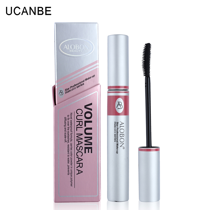 1x Black ink Alobon Cosmetic 3d Fiber Lashes Mascara Individual False Eyelashes Extension Colossal Mascara Volume Express Makeup