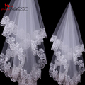 In Stock High Quality Cheap Short Wedding Veils White/Ivory One Layer Lace Bridal Veils 2016 Wedding Accessories