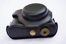 Caso de couro da câmera saco da câmera para Panasonic Lumix DMC-LX7 LX7 LX5 LX3 Câmera Com Cinta Shoudler em 3 cores, Frete Grátis,
