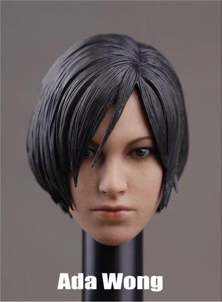 Custom 1/6 Scale Ada Wong Head Sculpt with Short Hair For 12