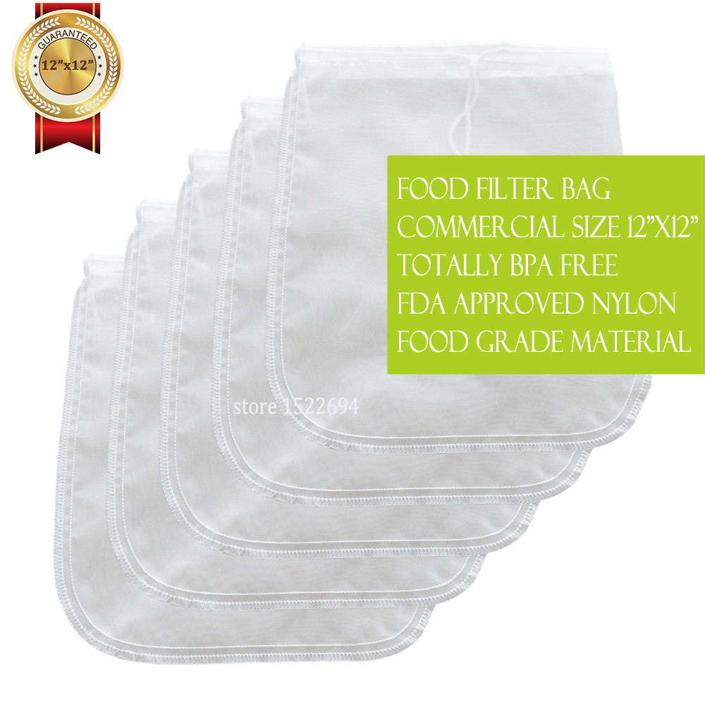 Pro Saco Reutilizável Saco de Leite Leite de Amêndoa Porca Qualidade Melhor 12*12 polegada Comercial Nylon Saco de Filtro de Leite Caseiro fabricante