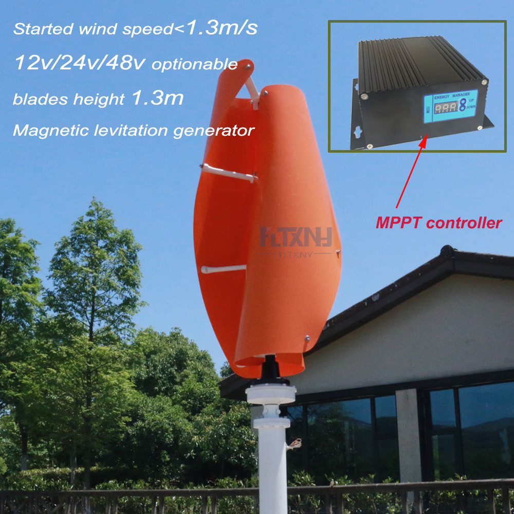 NEW maglev wind generator 600w 12/24v vertical axis wind turbine with 600w 12v/24v AUTO wind solar hybrid controller for home все цены