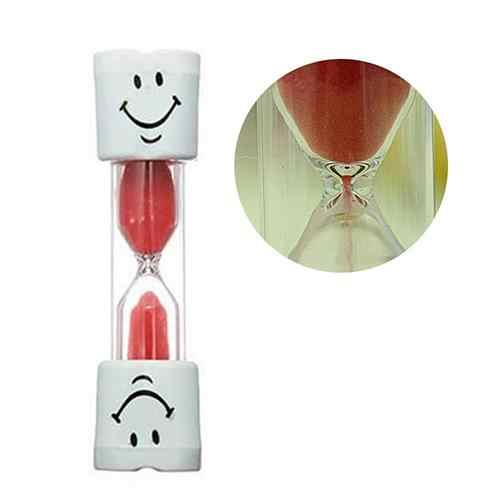HOT SALE! Children Kids Tooth Brushing Timer 2 Minutes Smiling Face Sandglass Hourglass