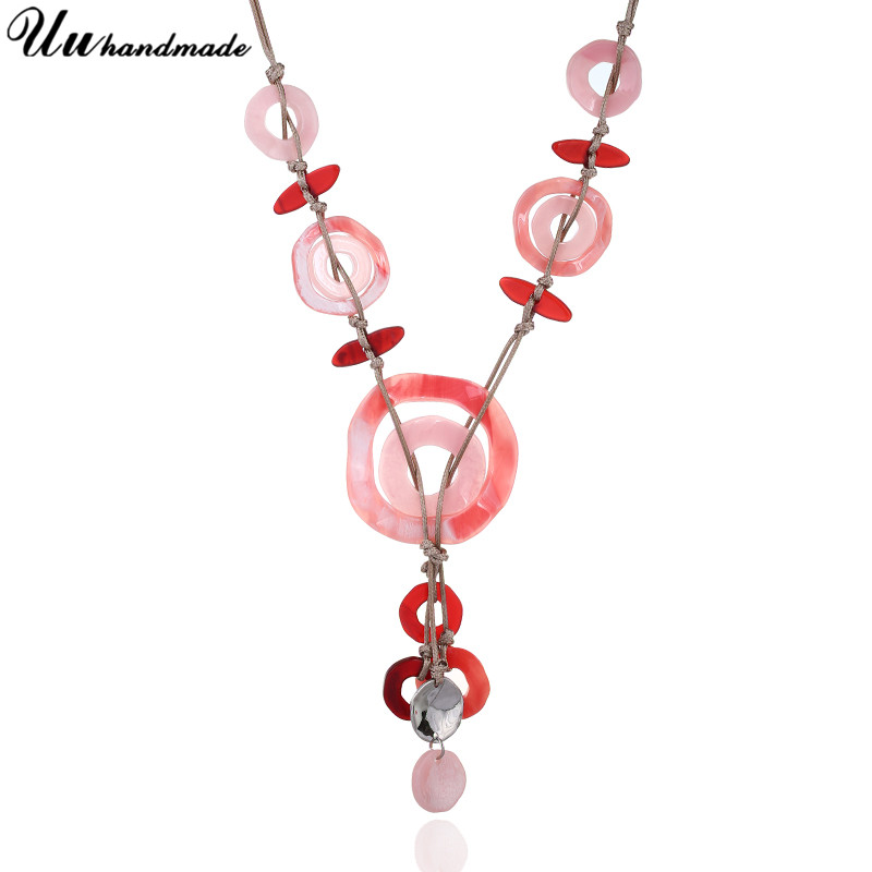 Necklaces Pendants Acrylic long chain Choker Necklace Chocker Collar Chokers Women Boho Kolye Collier bijoux femme