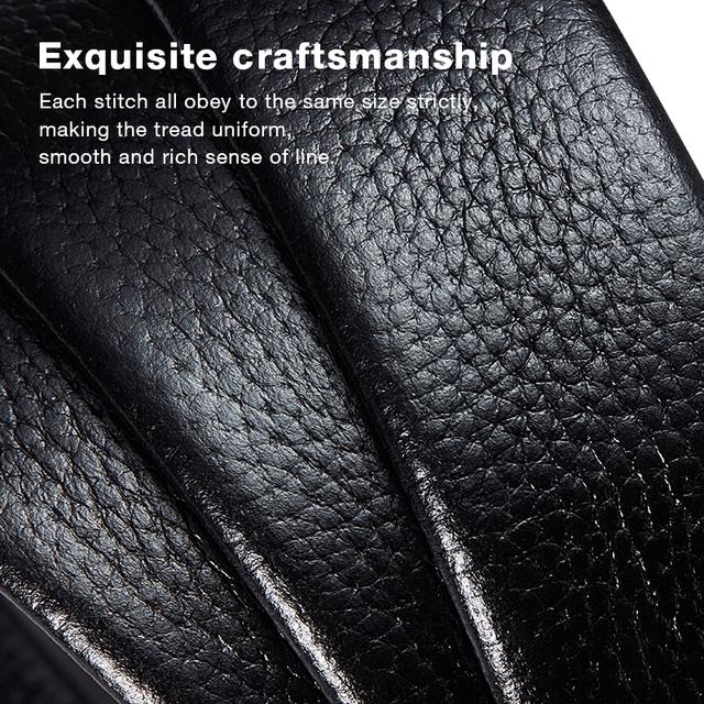 LAORENTOU Brand Men Belt Businessman Cowskin Leather Man's Belts without Buckle Male Replacement Belt Adult Cutable Belt