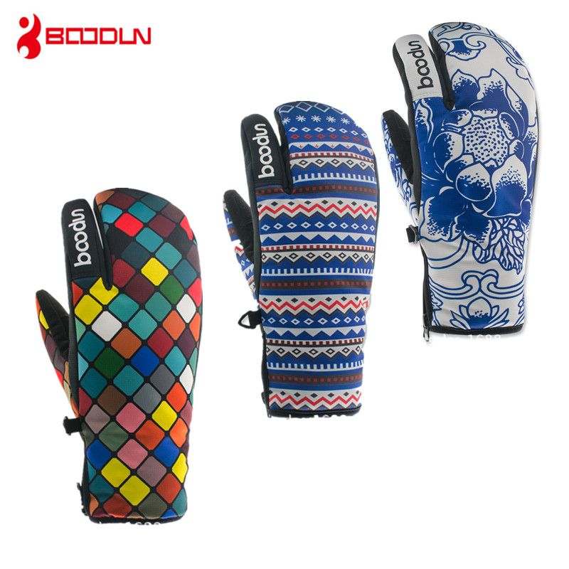 Brand New Winter Snowboard Gloves For Women Ski Gloves Windproof Waterproof Non-slip Skating Skiing Gloves Cotton Warm Mittens