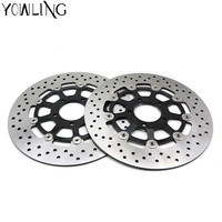 2PCS Motorcycle Accessories Front Floating Brake Disc Rotor For SUZUKI GSXR 750 1996 1997 1998 1999