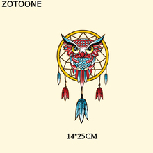 ZOTOONE Dreamcatcher Patches For Clothing DIY T-shirt Owl Thermal Transfer Paper Stickers Iron On Transfer Heat Press Applique D недорого