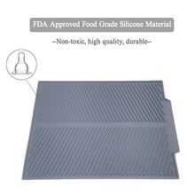 Silicone Square Dish Drying Mat Premium Heat Resistant Tableware Dishwaser Durable Cushion Pad Dinnerware Table Mat Placemat
