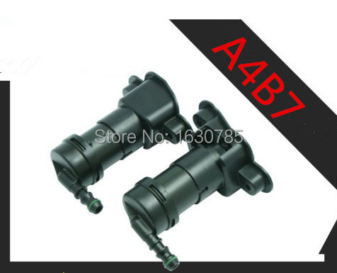 ФОТО Pair Left and Right  Headlight Washer Sprayer Nozzle For Audi A4 S4 B7 Avant Quattro 8E0 955 101 D 102 D  OR 8E0 955 101/102 G