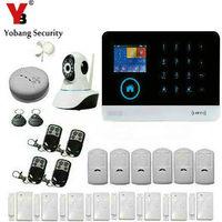 YoBang безопасности Wi Fi GSM GPRS безопасности Системы включает дыма и IP камеры для удаленного наблюдения для дома охранной сигнализации