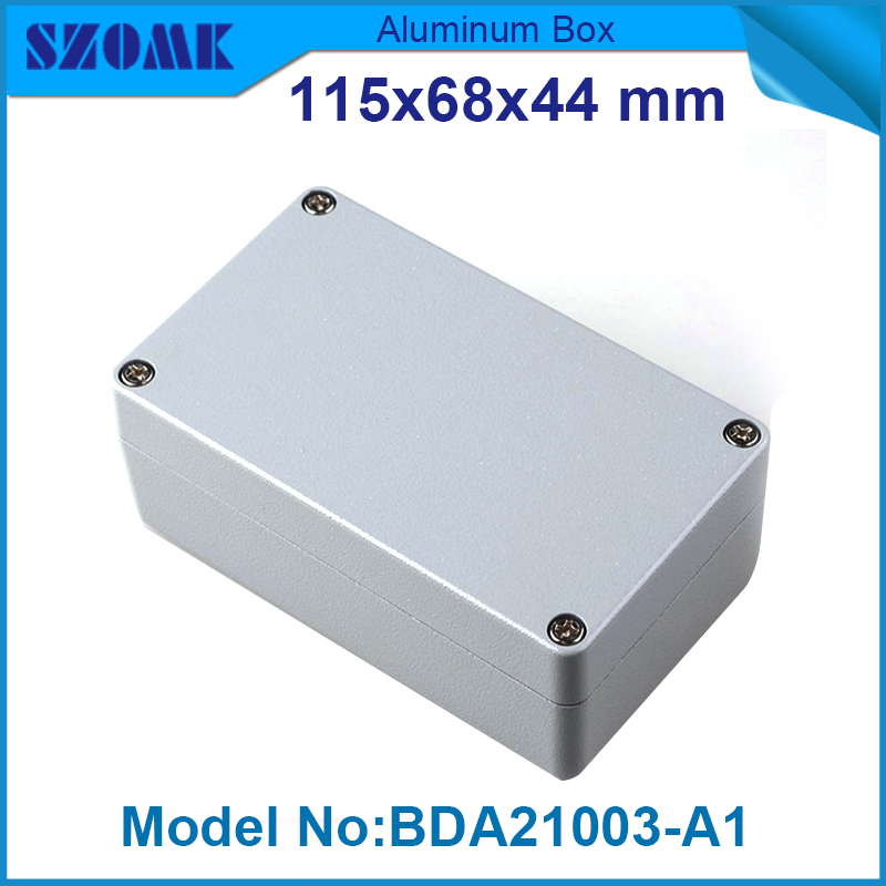 1 piece free shipping extruded aluminum enclosures electronics waterproof IP 68 Box 44(H)x68(W)x115(L) mm 1 piece free shipping aluminum enclosure project box extruded aluminum enclosures 46 h x66 w x100 l mm