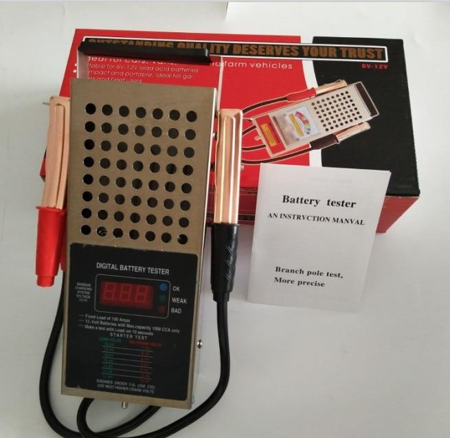 Portable 6V12V Automotive Car font b Battery b font Tester Charger Alternator font b Battery b