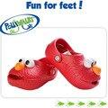 Varejo chegam novas polliwalk s meninos meninas 3D Sesame Street EVA sandálias verão bonito Elmo Cookie chinelos crianças praia calçados