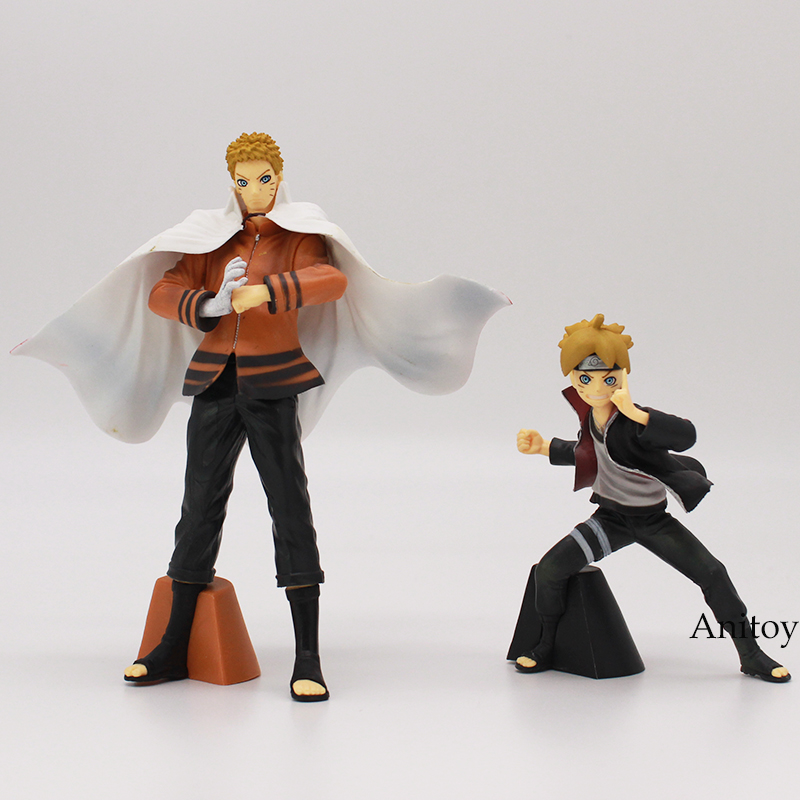 Naruto Boruto Uzumaki Boruto & Naruto PVC Action Collectible Figure Model Toys 2pcs/set 11.5-16cm shfiguarts naruto uchiha itachi moloing and movable pvc action figure collectible model toy 16cm