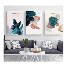 Hand Painted Plant Poster Tropical Leaf Wall Art Canvas Spray Painting Pictures For Home Living Room Nordic Modern Decor