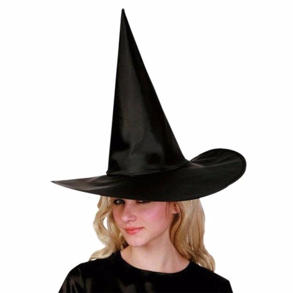 10 Stücke Erwachsene Frauen Schwarz Hexenhut Für Halloween Kostüm Zubehör Kappe Frauen Winter Hut Kopfschmuck Für Kinder Knochen Feminino Elegant Und Anmutig