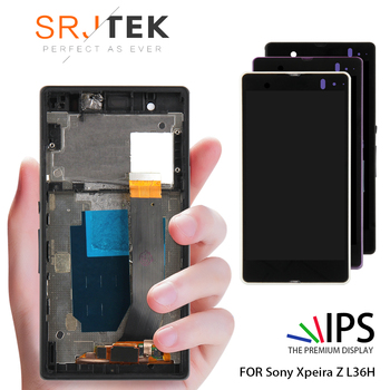 ORIGINAL Display Für SONY Xperia Z LCD Touch Screen Digitizer Mit Rahmen Für SONY Xperia Z LCD L36H C6603 C6602