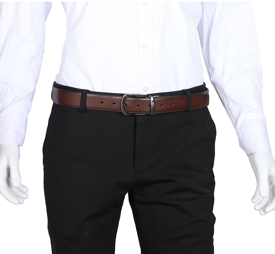 Men Genuine Leather Belt Reversible Buckle Brown and Black Belt HTB1y6AKa7T2gK0jSZFkq6AIQFXaI Leather belt
