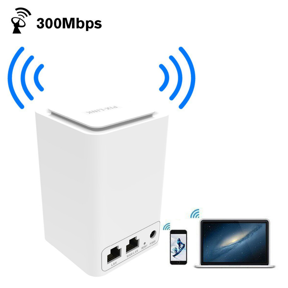300Mbps WiFi Range Extender Wireless Router/Repeater/AP/Wps Mini Dual Network Built-in Antenna With RJ45 2 Port Wi-fi Router