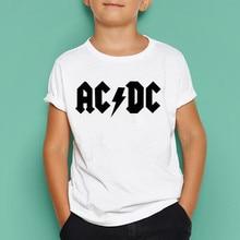 3732496a8 Niños niñas ACDC Rock T camisa verano de los niños gran Tops Casual de los niños  camiseta Niñas Ropa