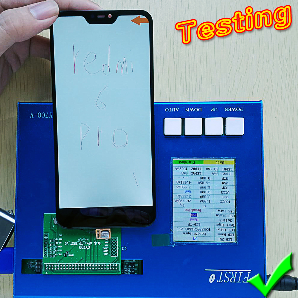 Deal Team 5.84 inch LCD display For Xiaomi Mi A2 Lite touch screen digitizer assembly For Xiaomi Redmi 6 Pro Frame with Tools