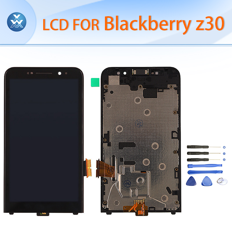 Original LCD for Blackberry Z30 LCD display touch screen digitizer glass+frame full assembly black white 5 pantalla free tools original lcd screen display touch panel digitizer with frame for blackberry classic q20 black free shipping
