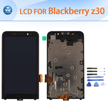 Original LCD for Blackberry Z30 LCD display touch screen digitizer glass+frame full assembly black white 5″ pantalla free tools