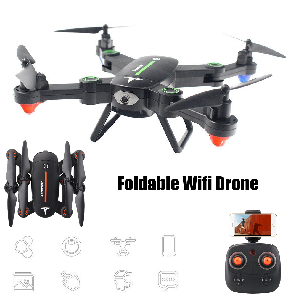 EBOYU(TM) F16W 2.4Ghz 2.0MP/ 0.3MP Wifi FPV RC Drone Selfie Drone Foldable RC Quadcopter with Altitude Hold 3D Flips Roll RTFEBOYU(TM) F16W 2.4Ghz 2.0MP/ 0.3MP Wifi FPV RC Drone Selfie Drone Foldable RC Quadcopter with Altitude Hold 3D Flips Roll RTF