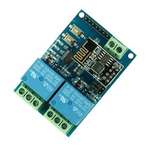 Image 2 - 5 V WIFI ממסר מודול ESP8266 IOT APP מרחוק בקר 2 ערוץ לבית חכם נייד טלפון אוטומציה לוח כפולה WiFi מודול