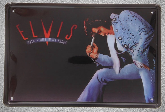 1 pc Elvis Presley singer actor solo guitarist film song dancer Tin Plate Sign wall man cave Decoration Art Poster metal vintage image